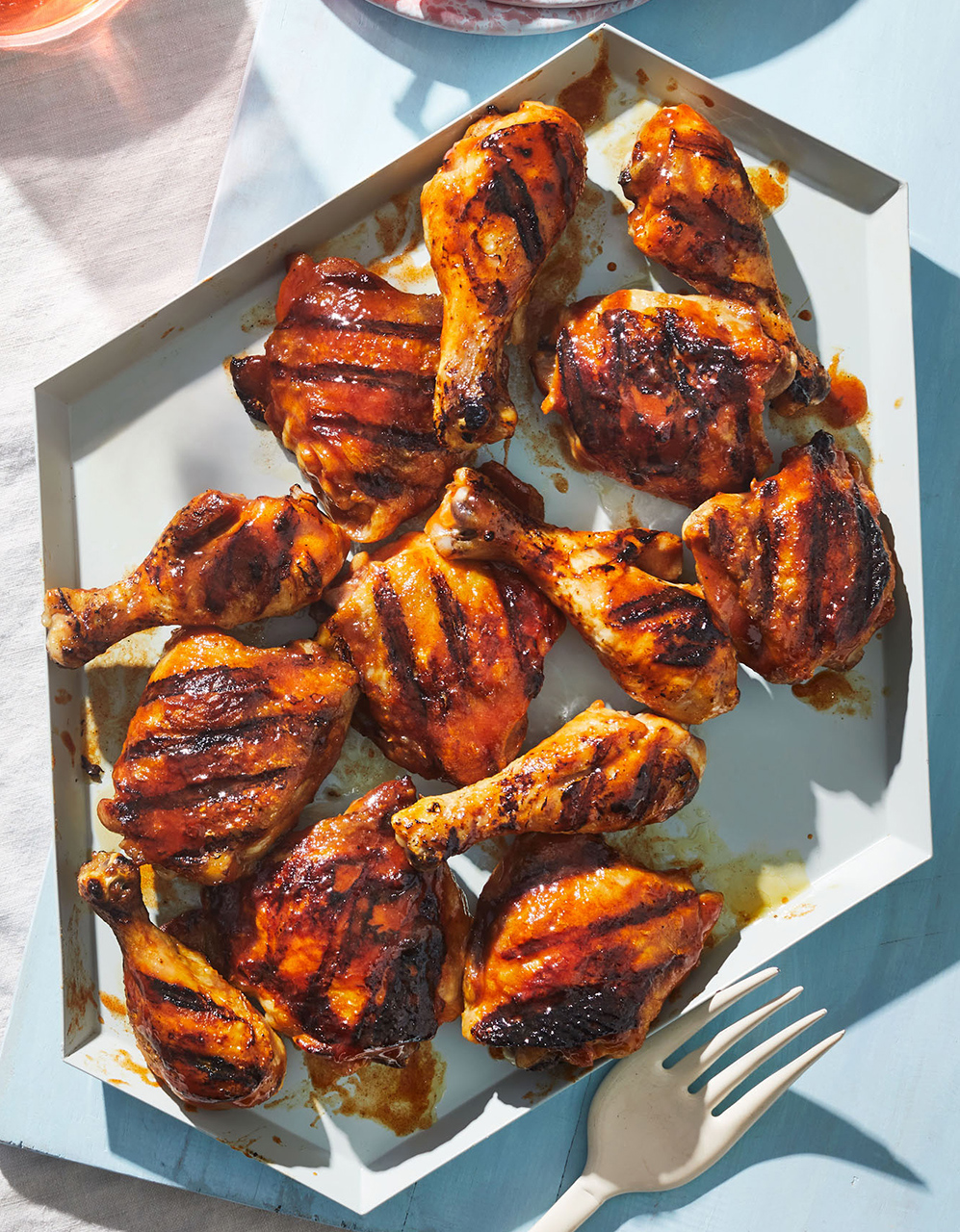 Grilled Chicken with Brown Sugar-Vinegar Glaze