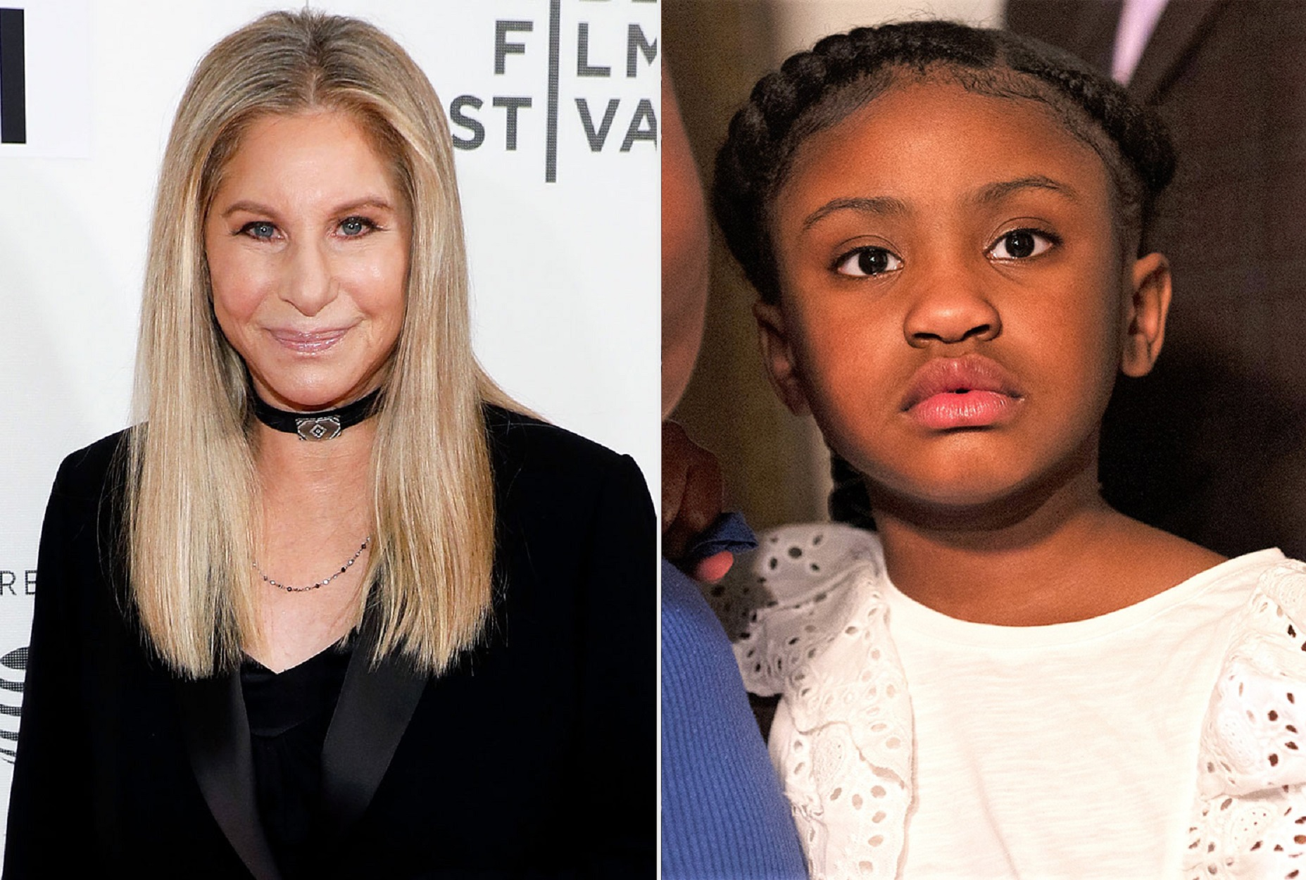 side by side barbra streisand and gianna floyd