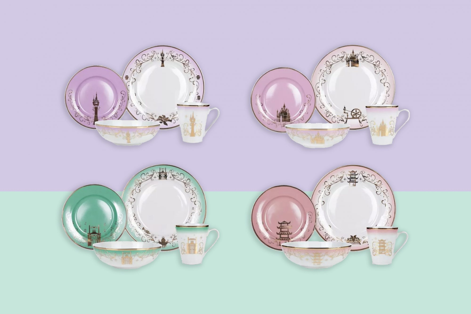 Target new Disney princess dinnerware sets