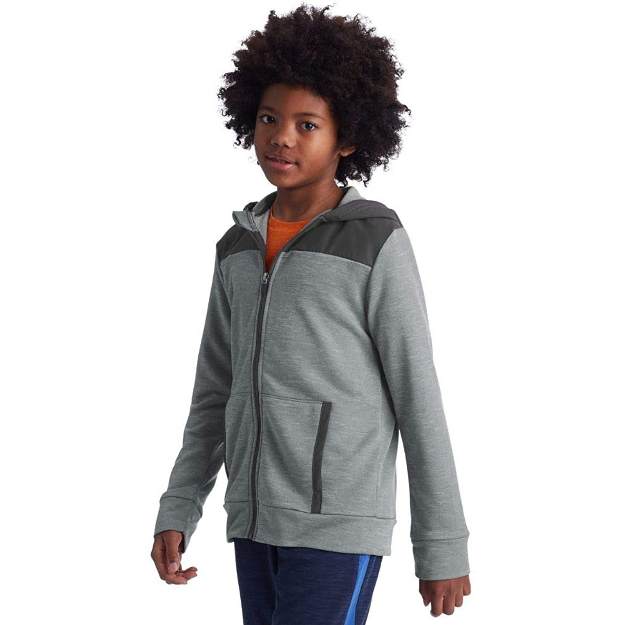 childrens gray zip up hoodie