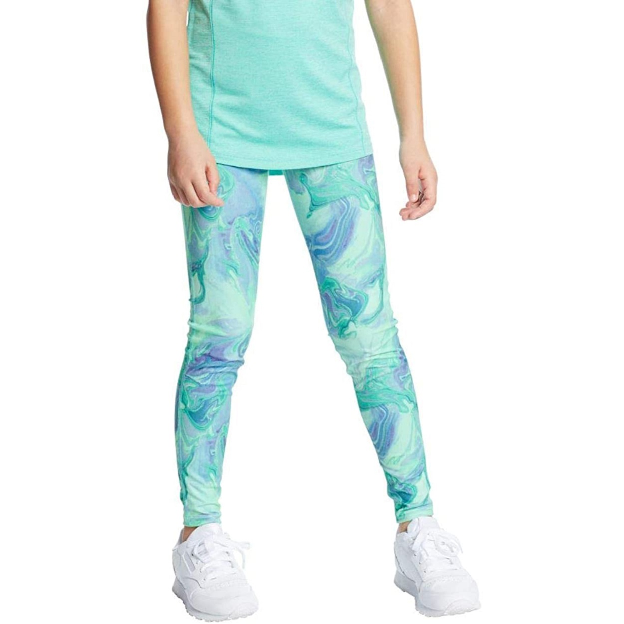 blue marbled childrens leggings