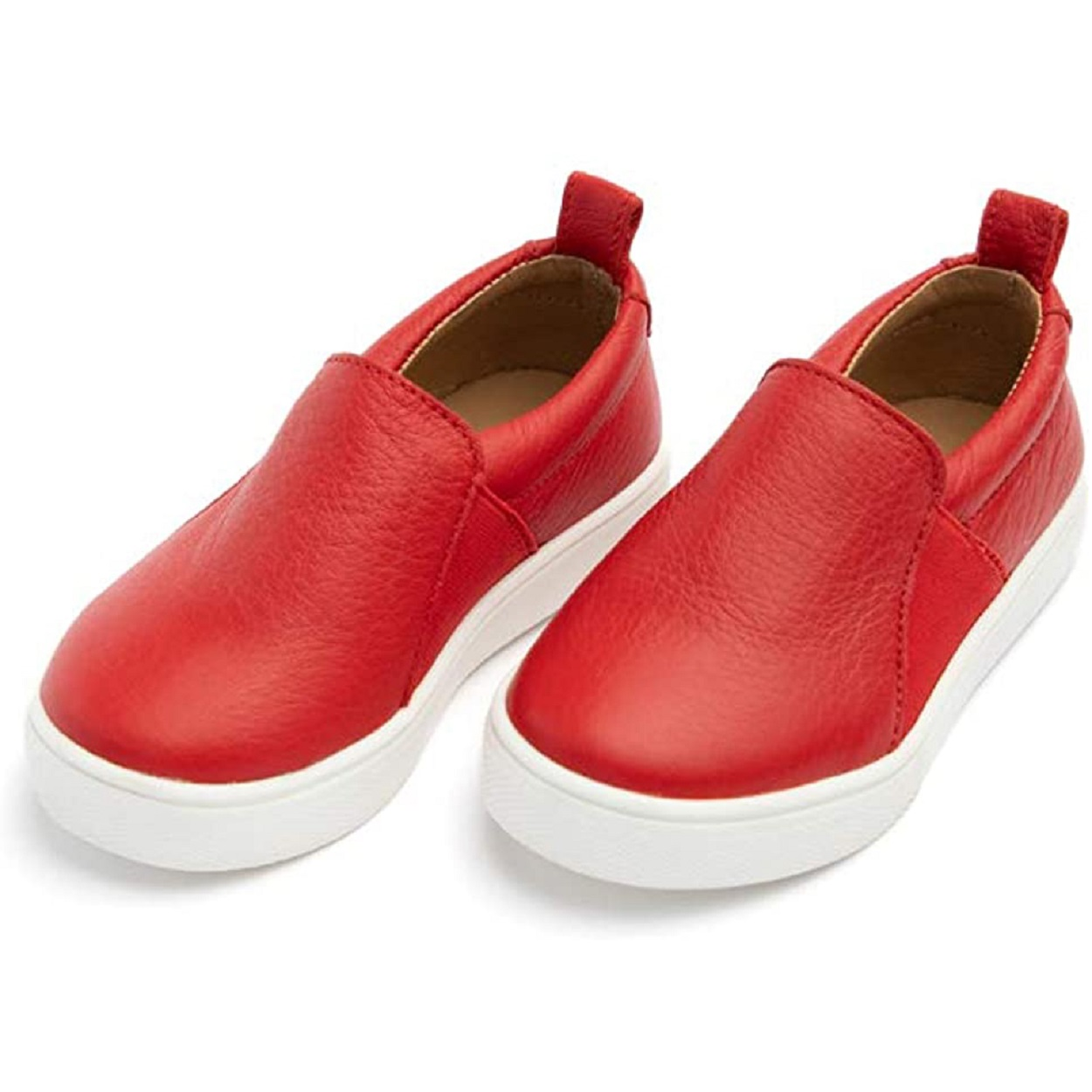 childrens shoes red loafers