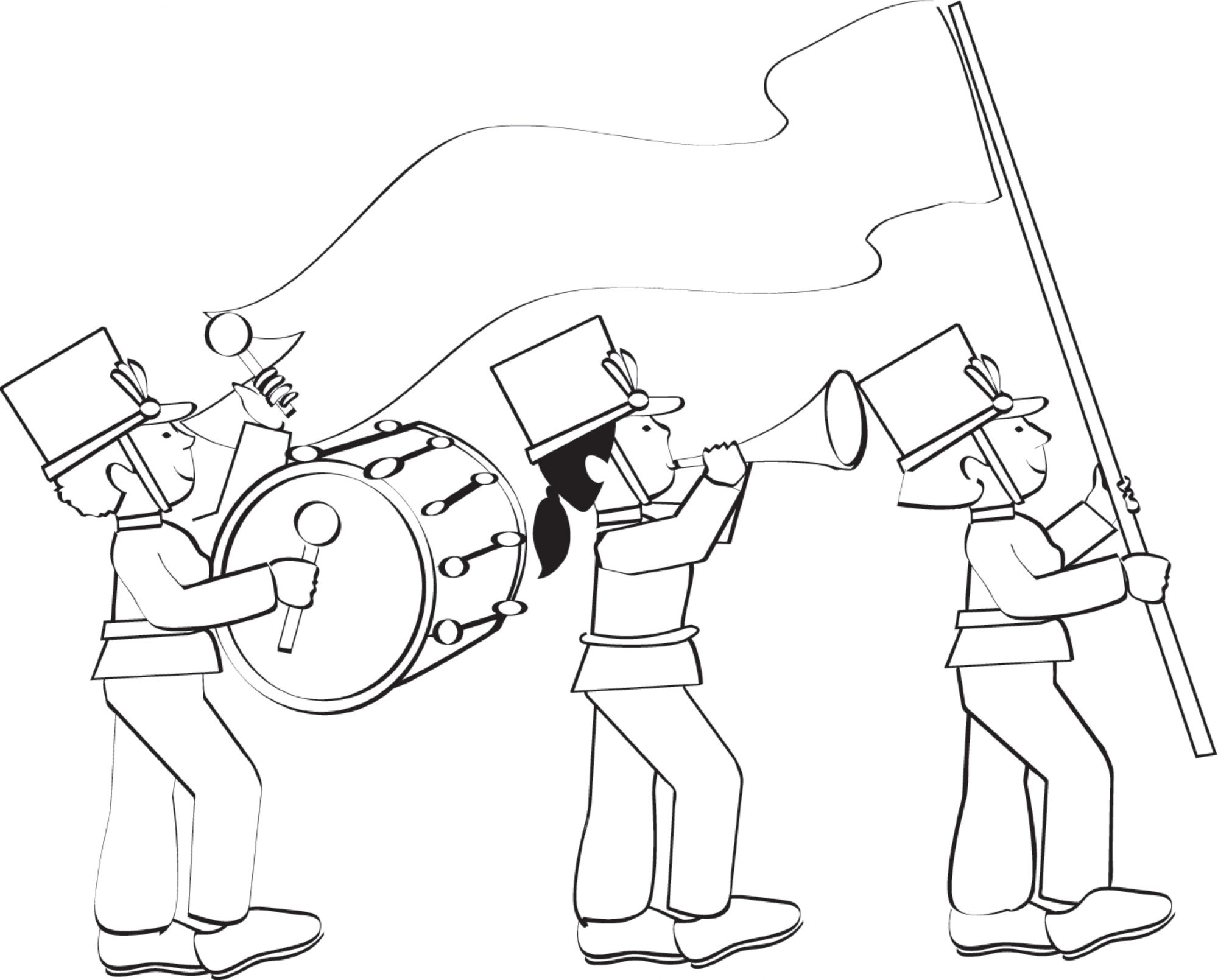 parade coloring page