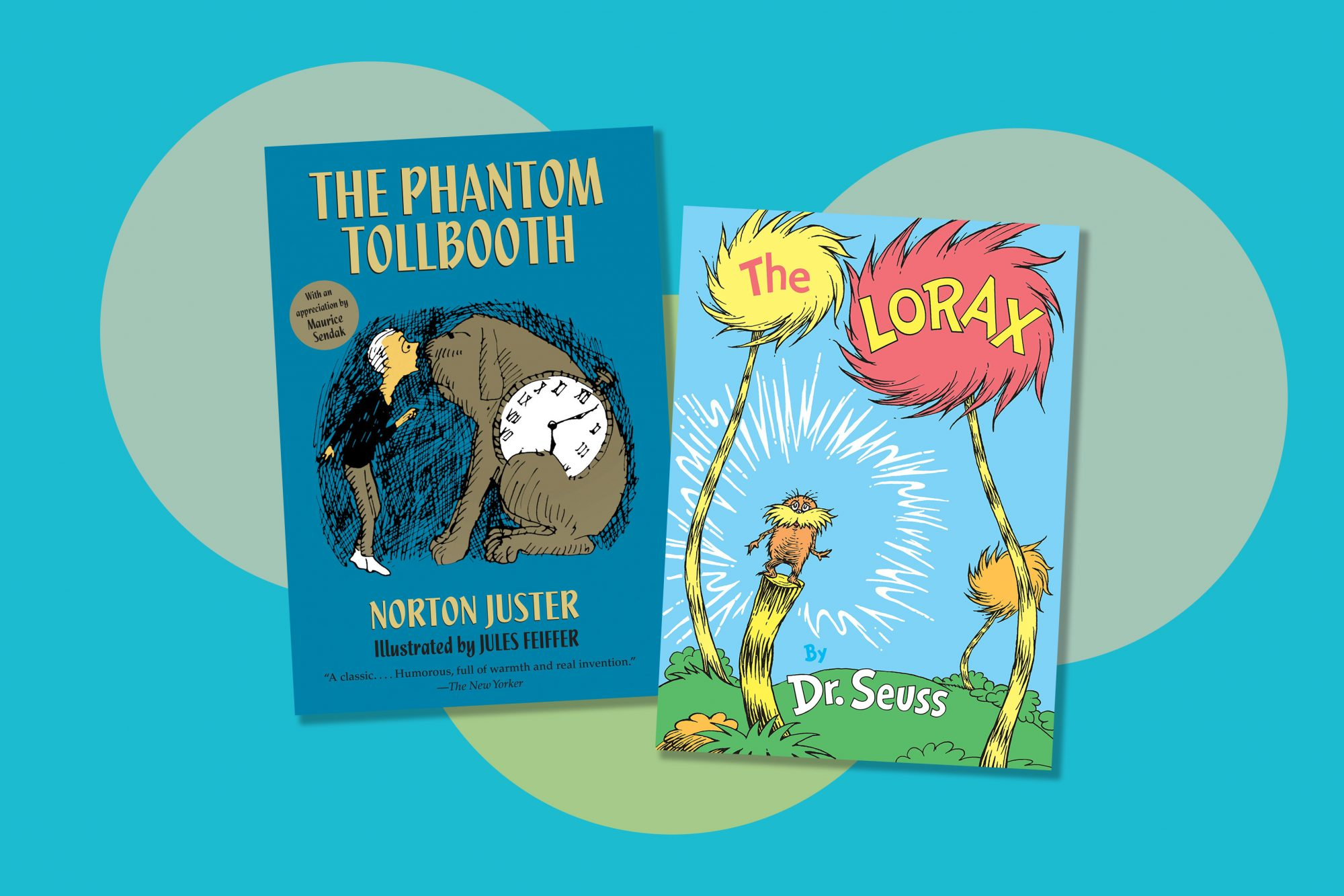 The Phantom Tollbooth Book Cover and The Lorax Book Cover