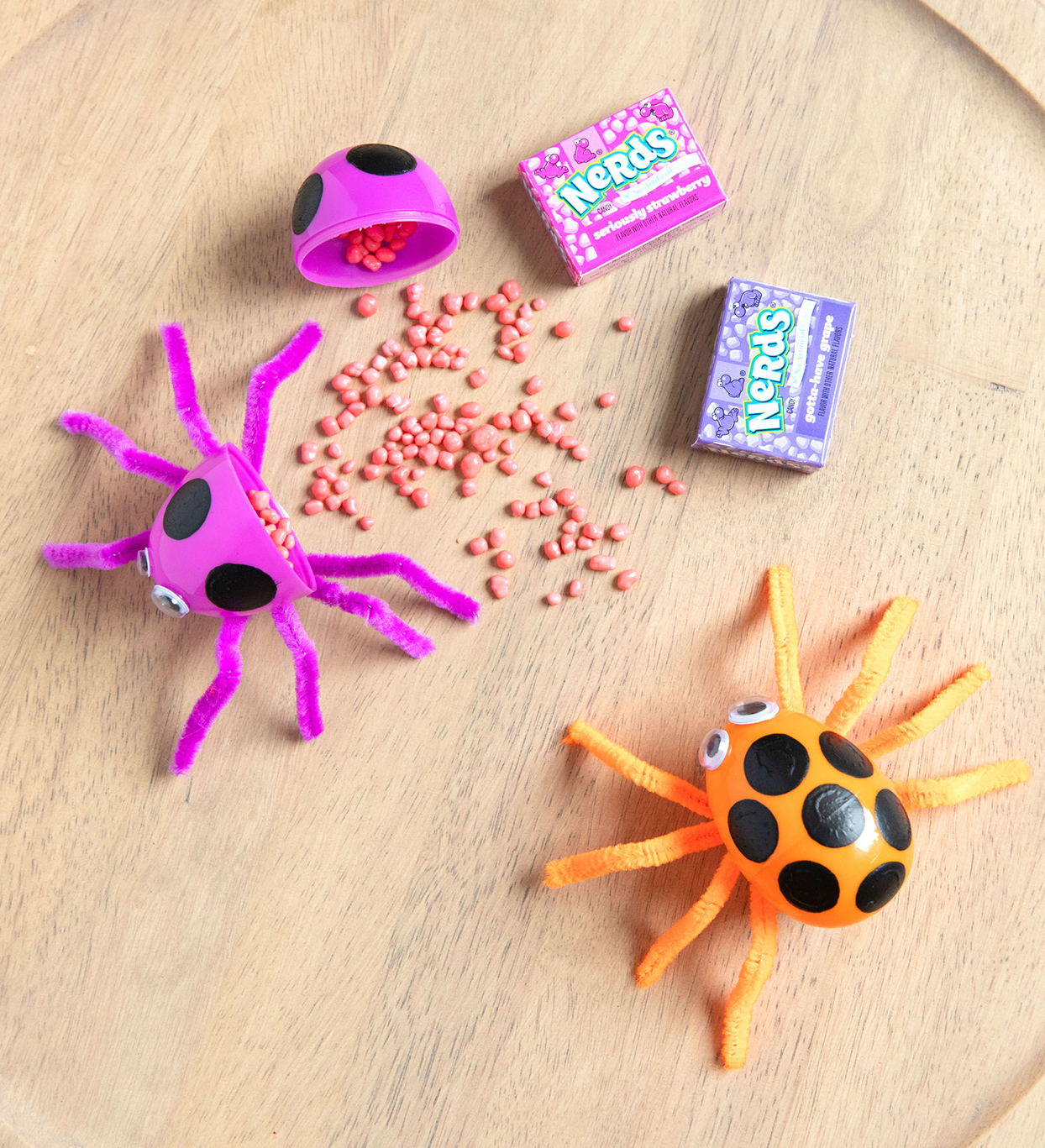 spiders with candy