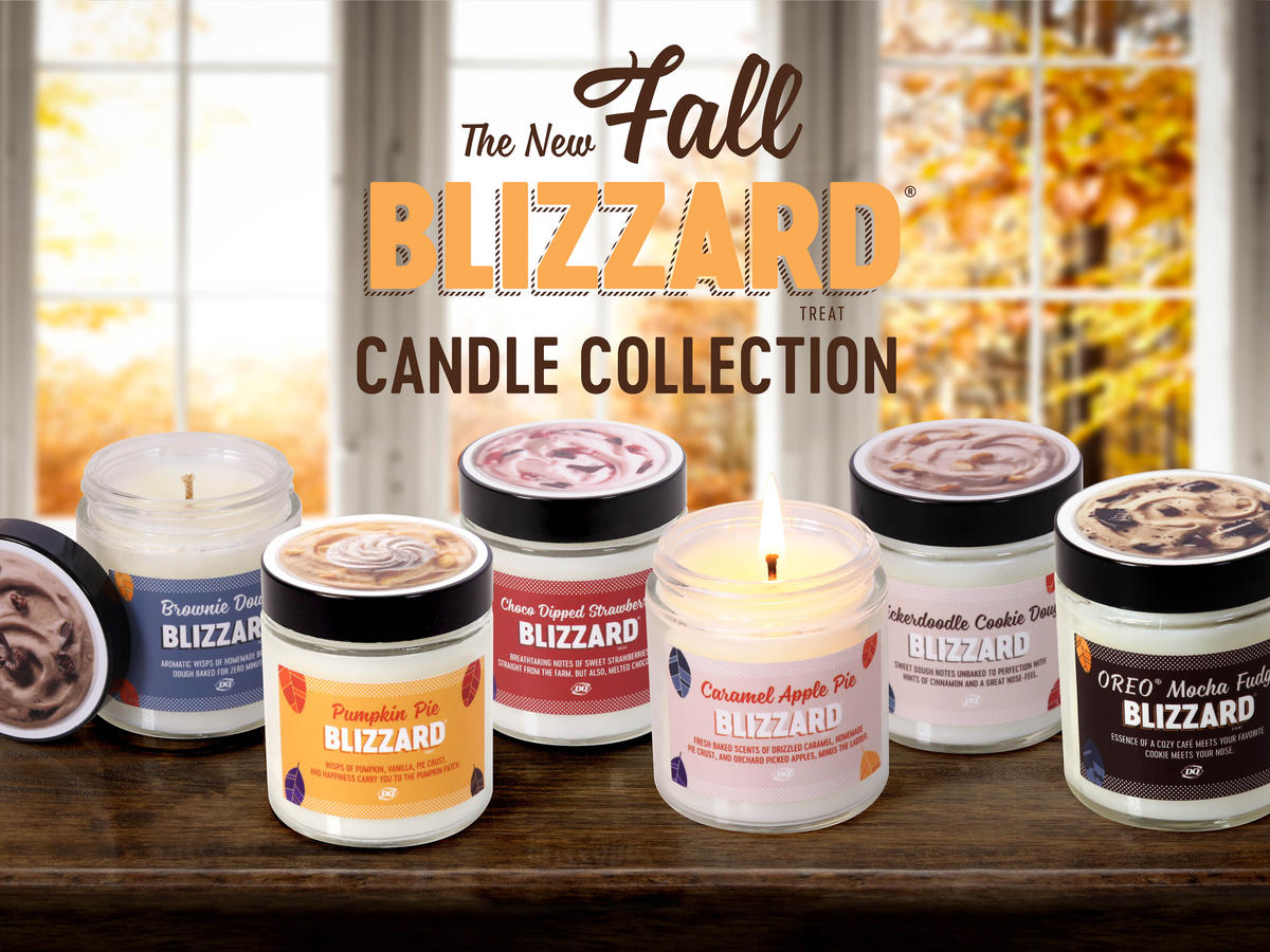 dairy queen fall blizzard candle collection