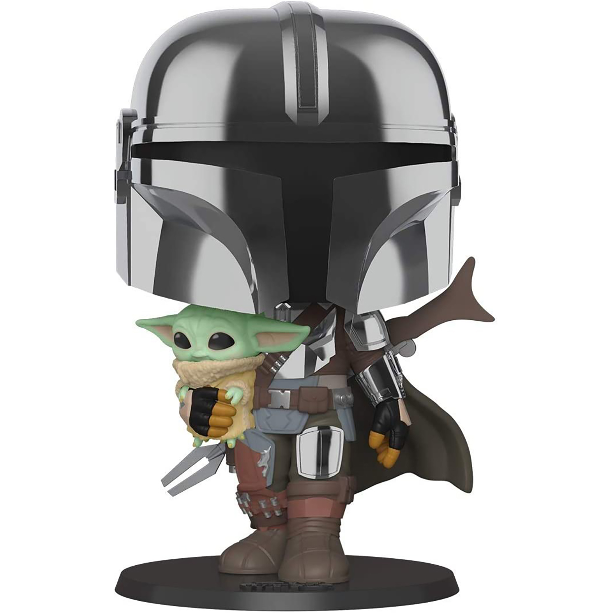 Pop! Star Wars: The Mandalorian 10-Inch Mandalorian With Child Figure