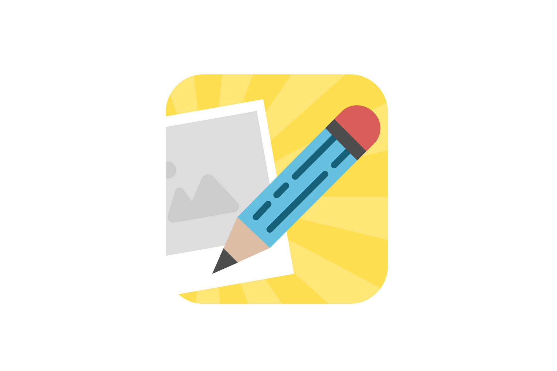 Write About This app icon