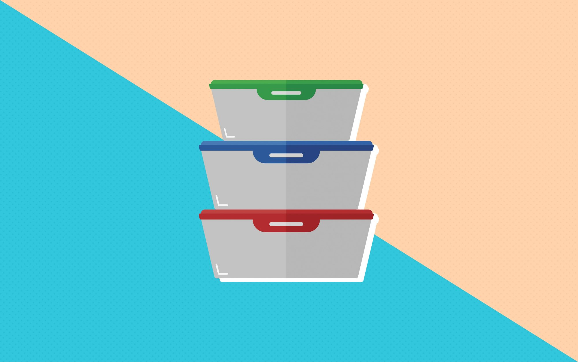 illustration of food storage containers