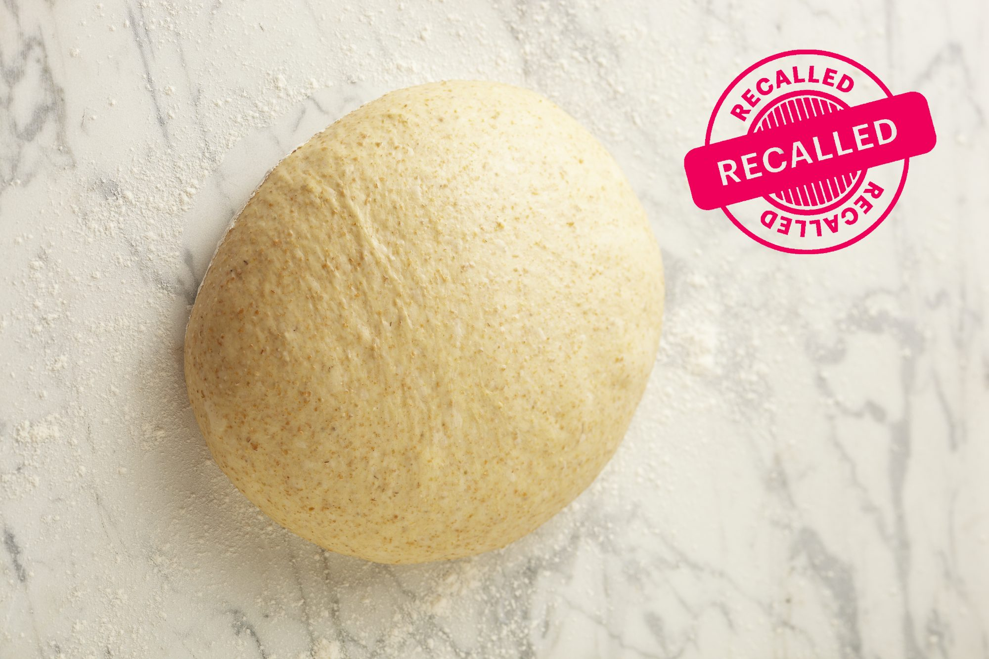 pizza dough with recall stamp
