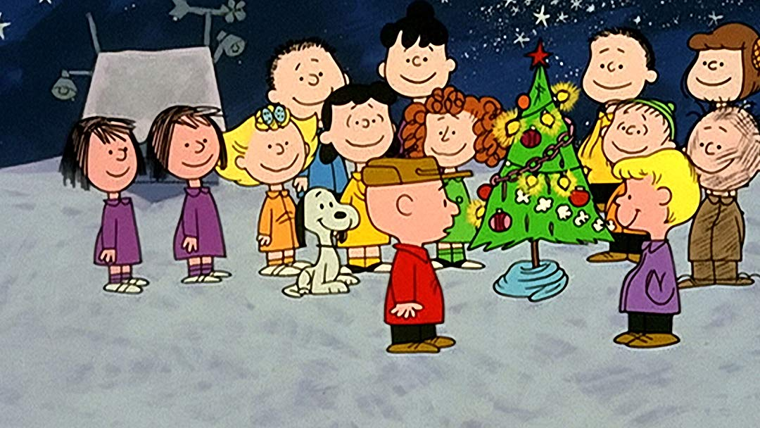 charlie brown christmas-movie scene