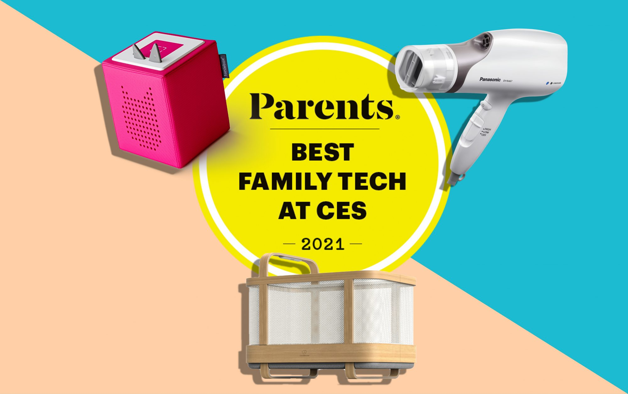 A composite of some of the best family tech at CES.
