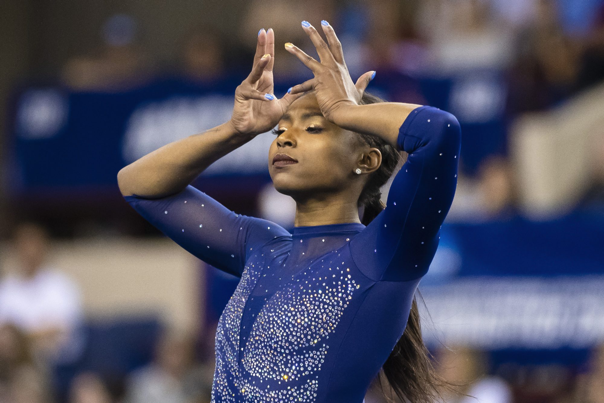 Nia Dennis at the 2019 NCAA Division I Women's Gymnastics Championship