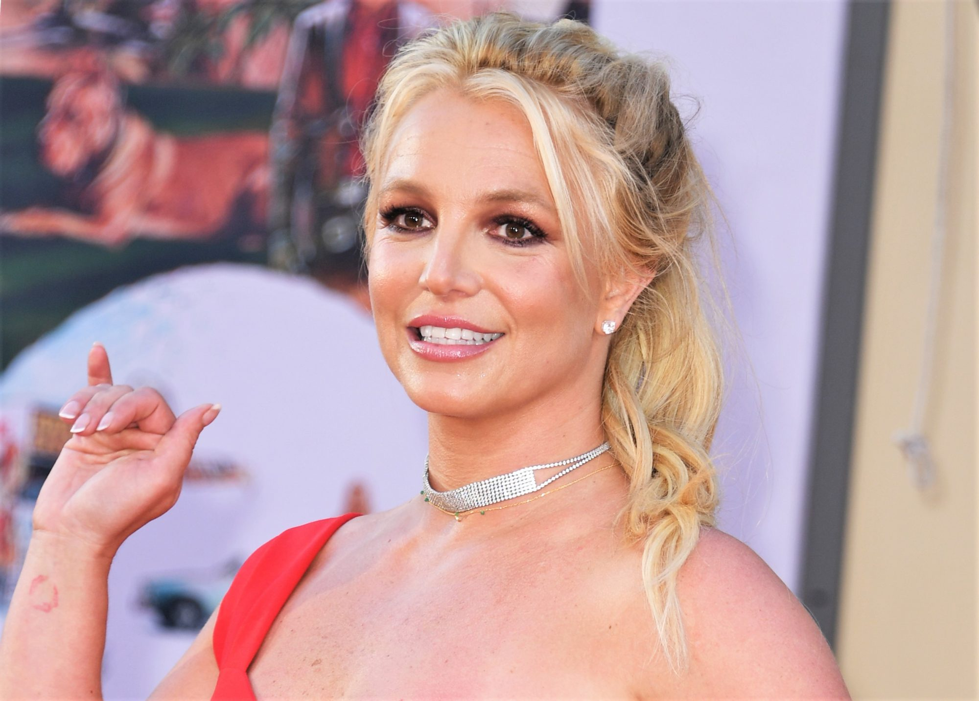 Closeup of Britney Spears