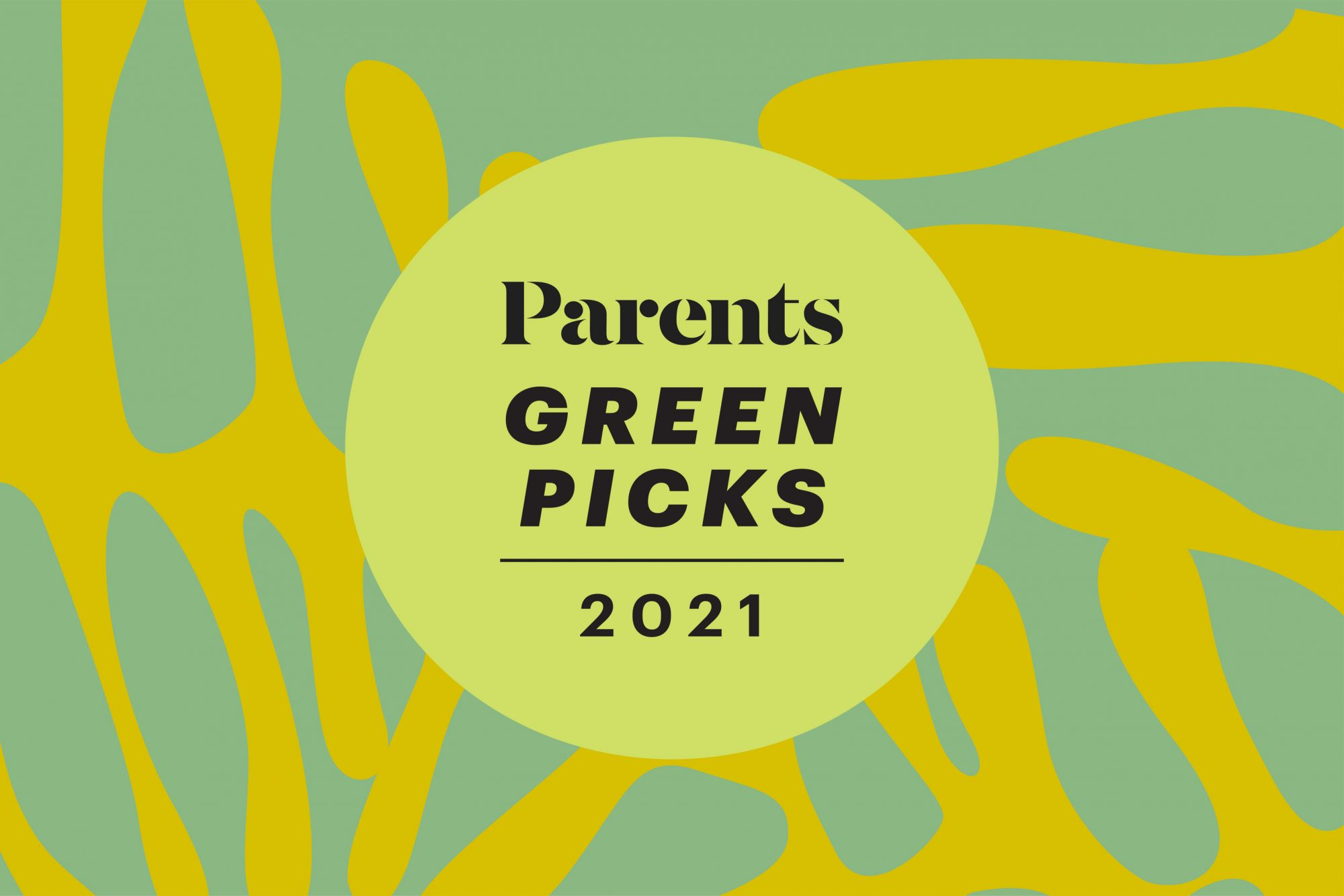 An image of the Parents Green Picks seal on a colorful background.