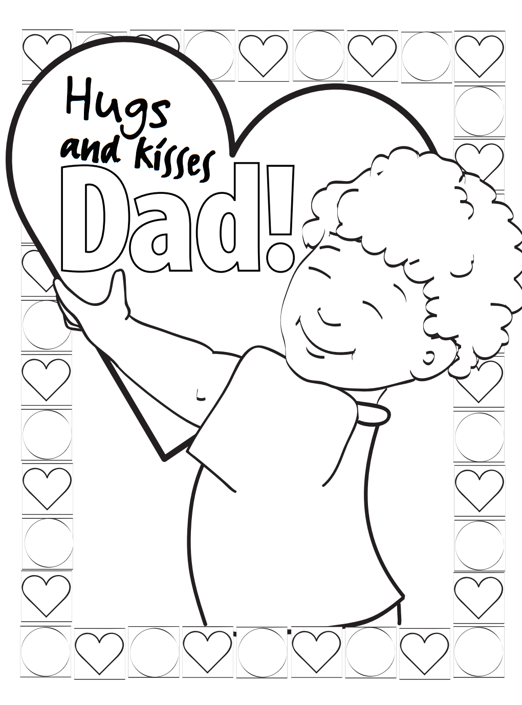 Dad Hugs and Kisses Father's Day Card