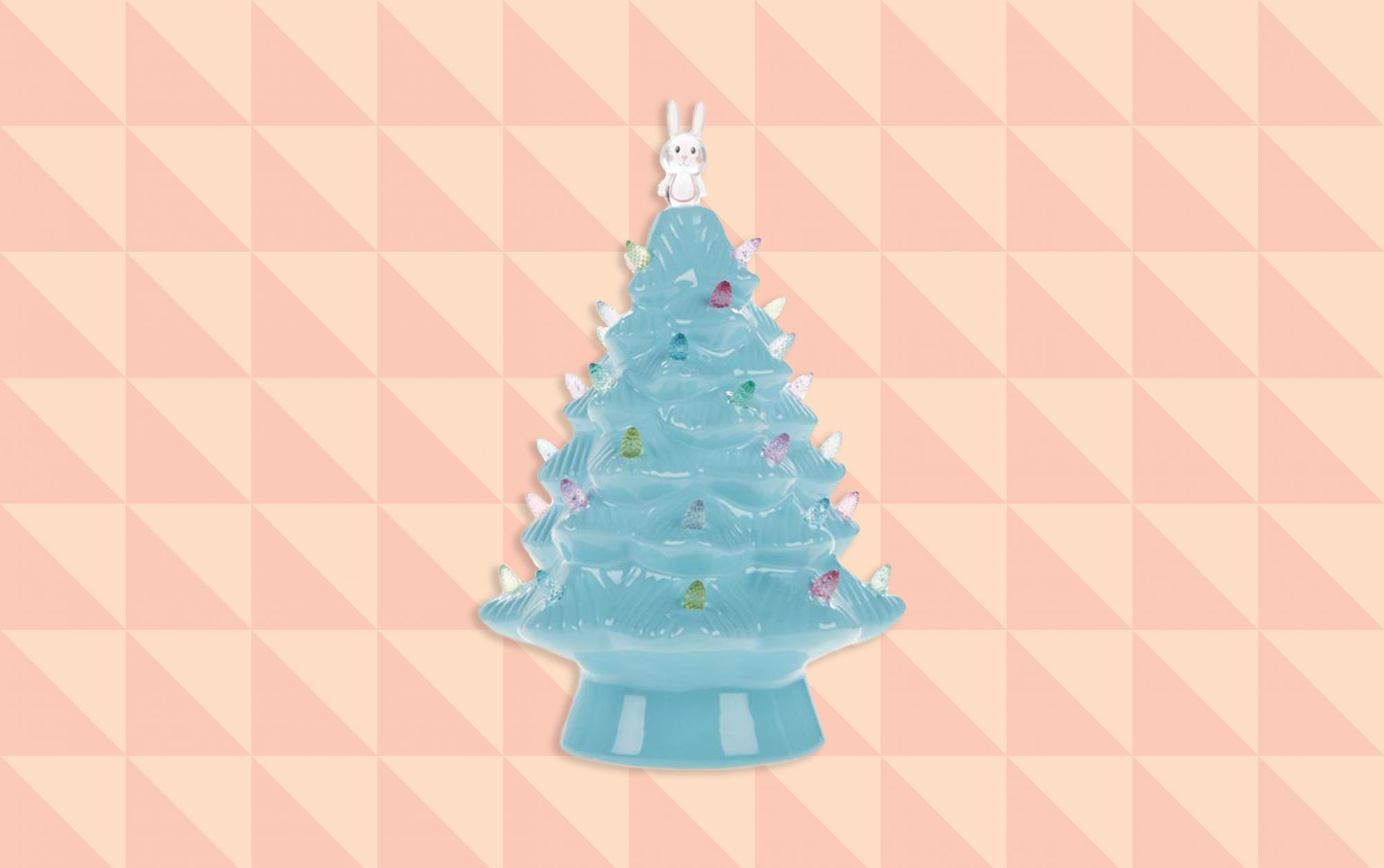 Blue Ceramic Easter Tree
