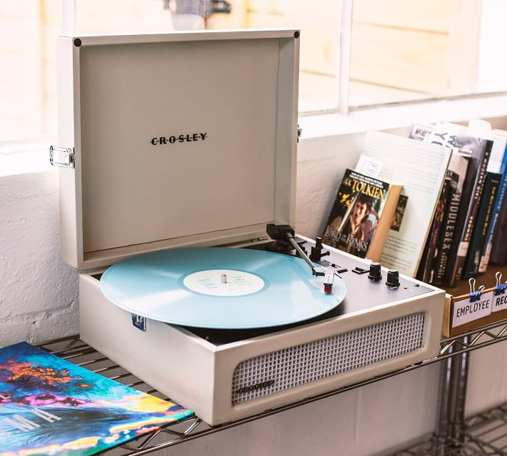 For the music lover, this stylish, three-speed turntable is modeled after vintage, suitcase-style players. It can be used on its own or plugged into your existing stereo system with the RCA outputs and features a built-in Bluetooth receiver that streams digital music from any device. It's $80 at Pottery Barn.