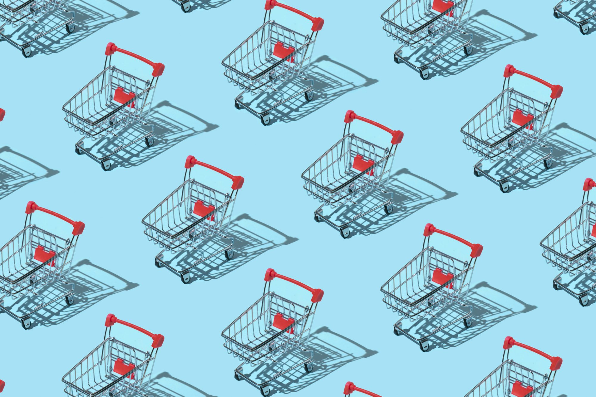 An image of grocery carts.