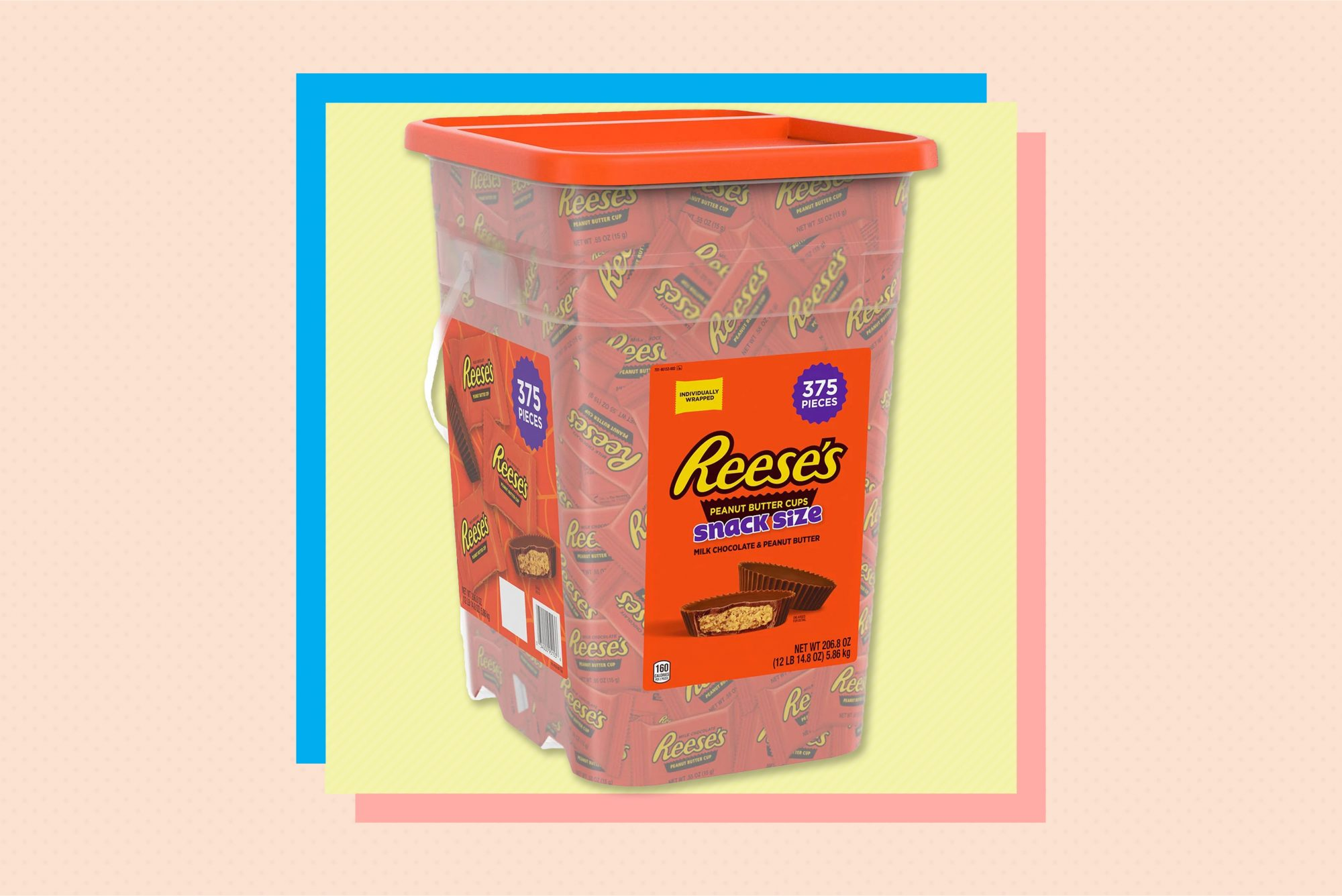 REESES peanut butter cups tub