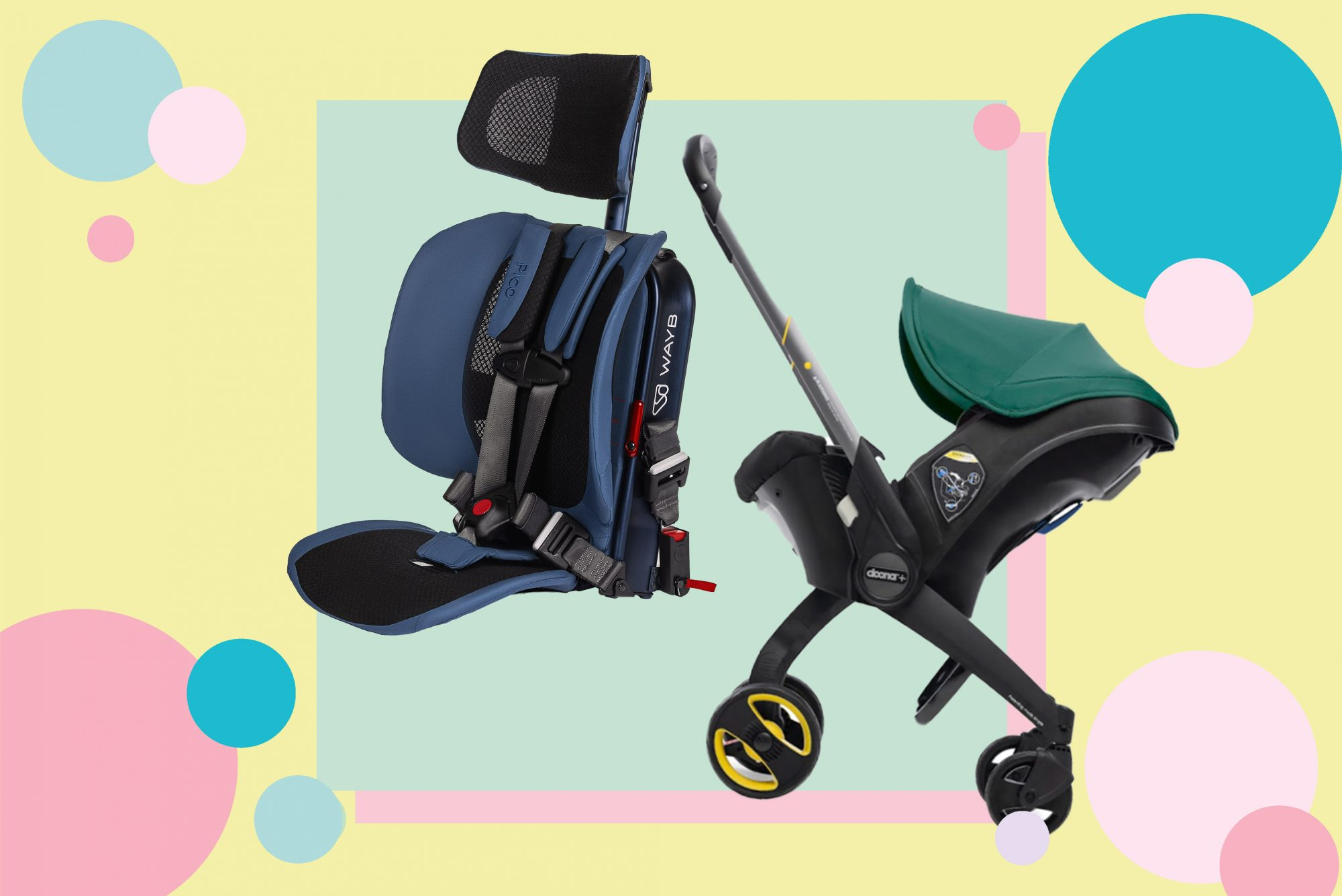 An image of travel gear for parents.
