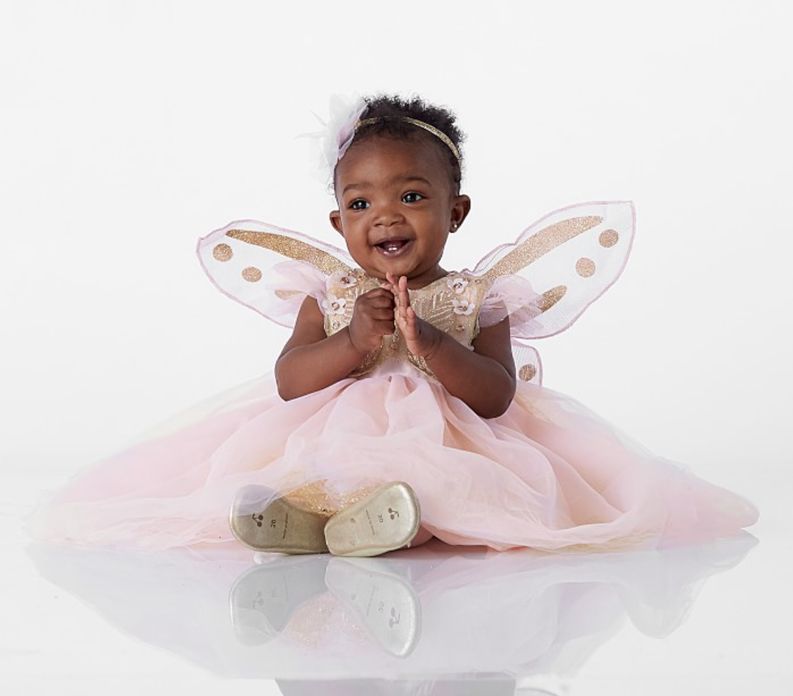 What do you get when you combine butterflies and fairies? This cute baby girl Halloween costume from Pottery Barn Kids!