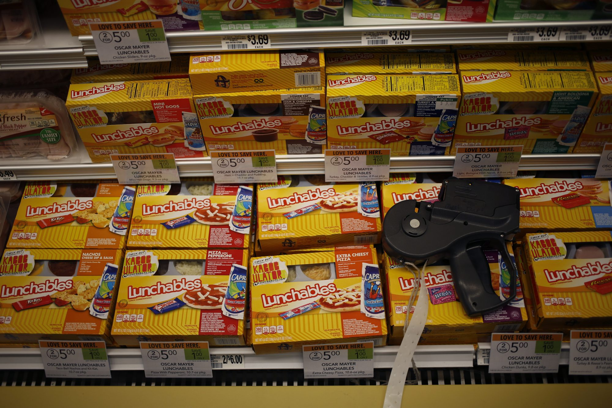 An image of Lunchables in a store.