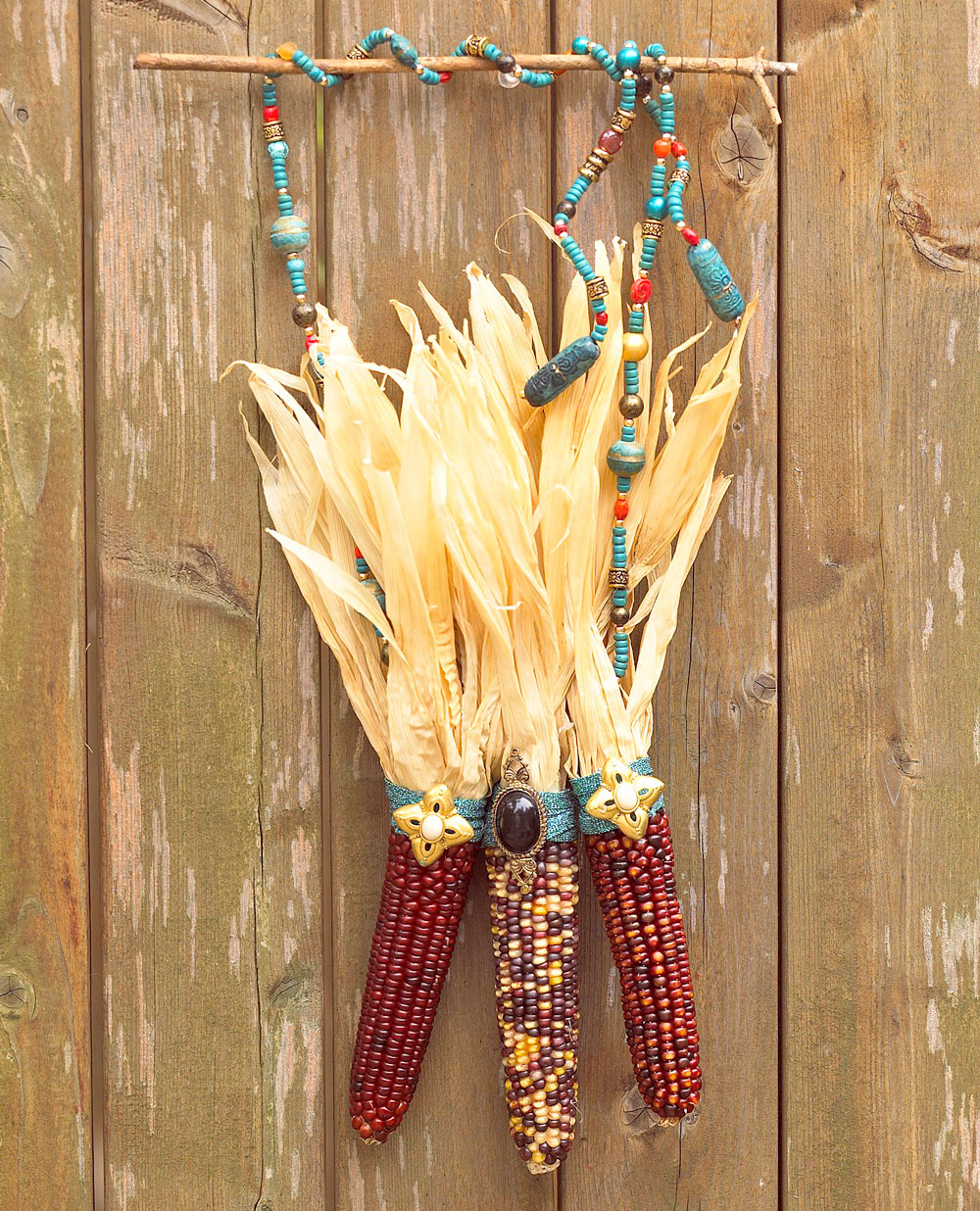 Beads and corn