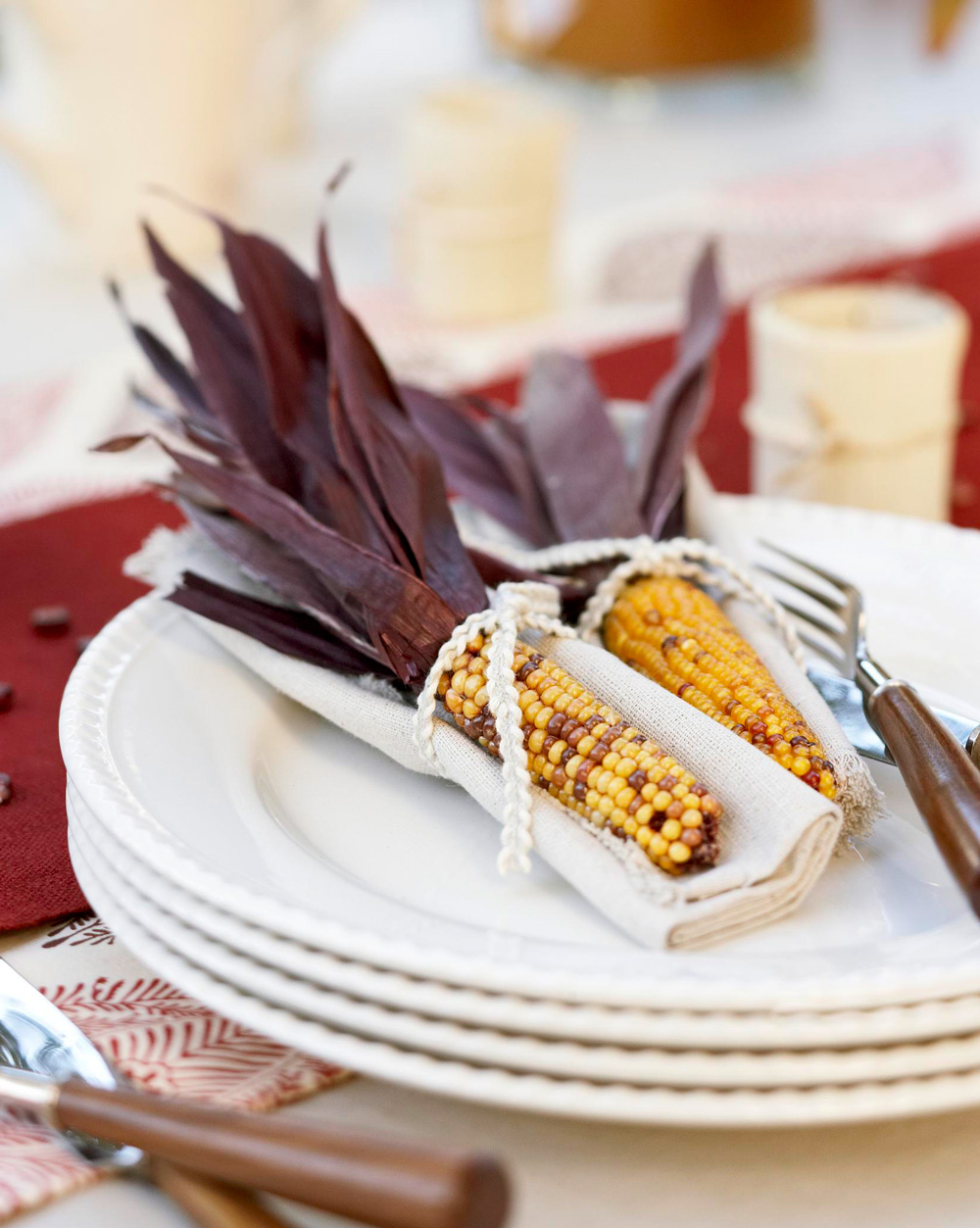 Corn place setting