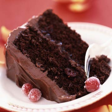 Luscious Cranberry-Chocolate Cake