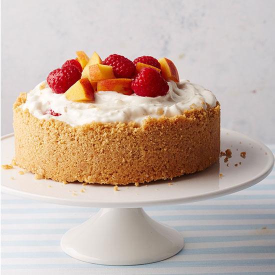 Mini Peach Melba Ice Cream Cake
