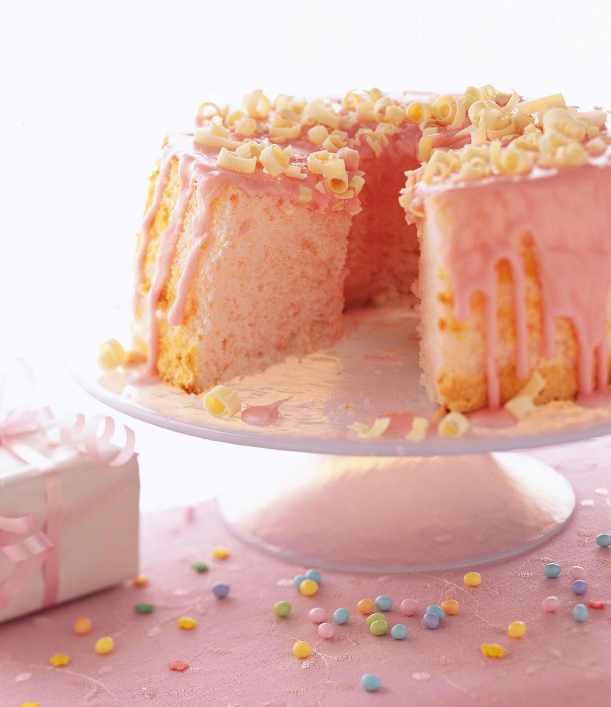 Tinted Angel Cake