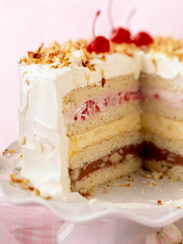 Old-Fashioned Ice Cream Sundae Cake