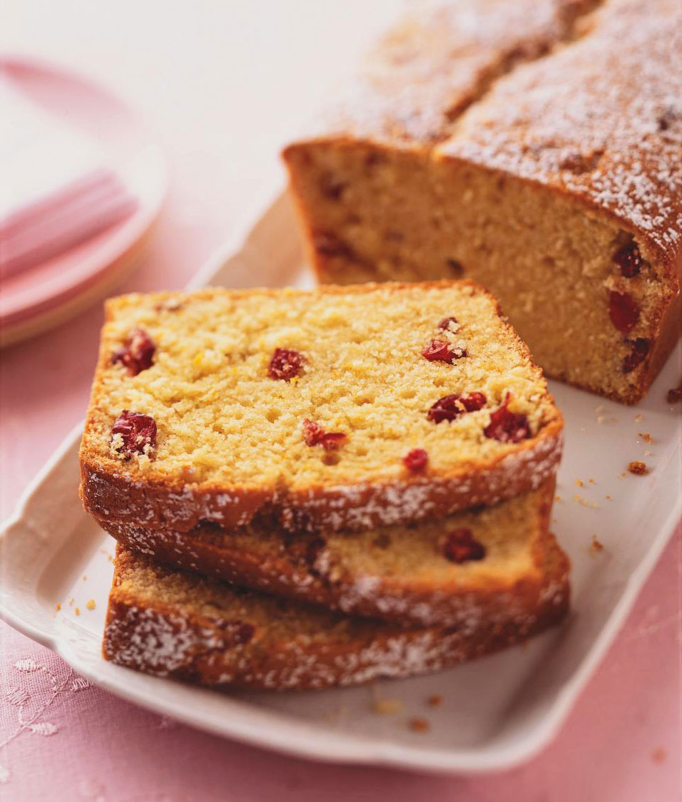 Wisconsin: Cranberry-Sour Cream Pound Cake