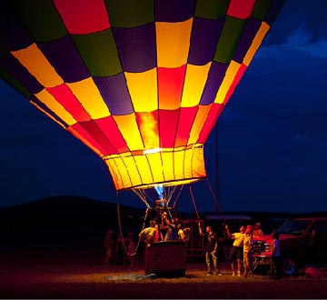 Wausau, Wisconsin's Balloon Rally and Glow
