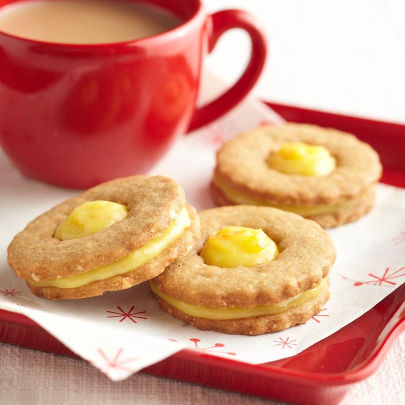 Orange-Ginger Cookie Sandwiches