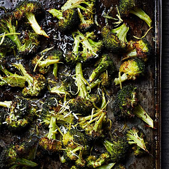 Roasted Broccoli with Pecorino and Lemon