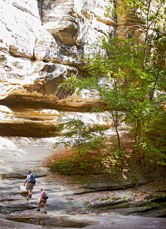 Starved Rock State Park, Illinois: 100 miles southwest of Chicago