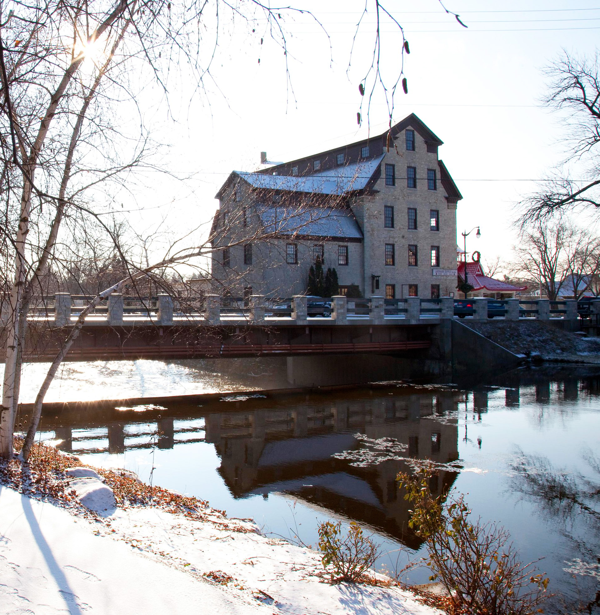 Cedarburg, Wisconsin: 113 miles north of Chicago