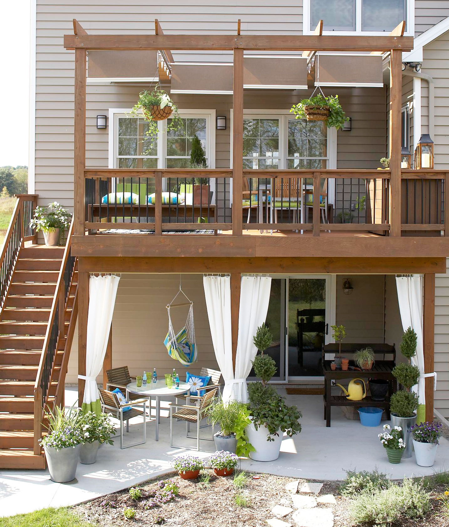Use space under decks