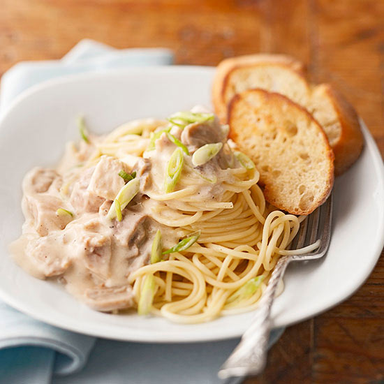 Slow-Cooker Easy Chicken Tetrazzini