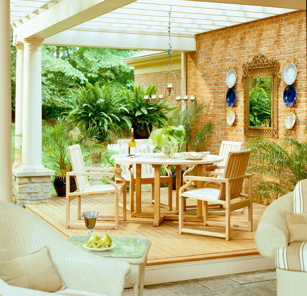 30 Ideas to Dress Up Your Deck | Midwest Living on backyard urn ideas, backyard patio ideas, cheap retaining wall ideas, backyard rose ideas, diy flower garden design ideas, backyard fence ideas, backyard gift ideas, tropical landscape patio design ideas, backyard outdoor ideas, backyard wood ideas, backyard landscaping ideas, back yard landscaping design ideas, backyard shelf ideas, small backyard ideas, outdoor flower pot decorating ideas, backyard plant ideas, backyard statue ideas, backyard bed ideas, backyard light ideas, backyard flowers ideas,