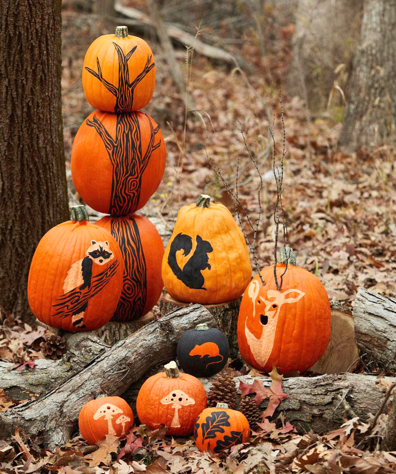 Free Printable Woodland Pumpkin Stencils Midwest Living