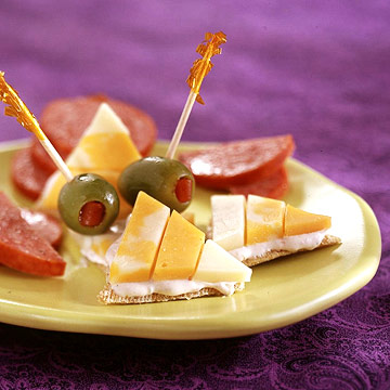 Candy corn crackers