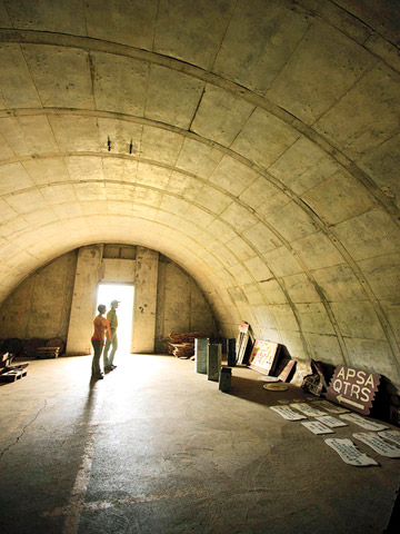 Peek into spooky bunkers