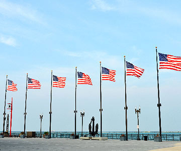 Flags on the pier
