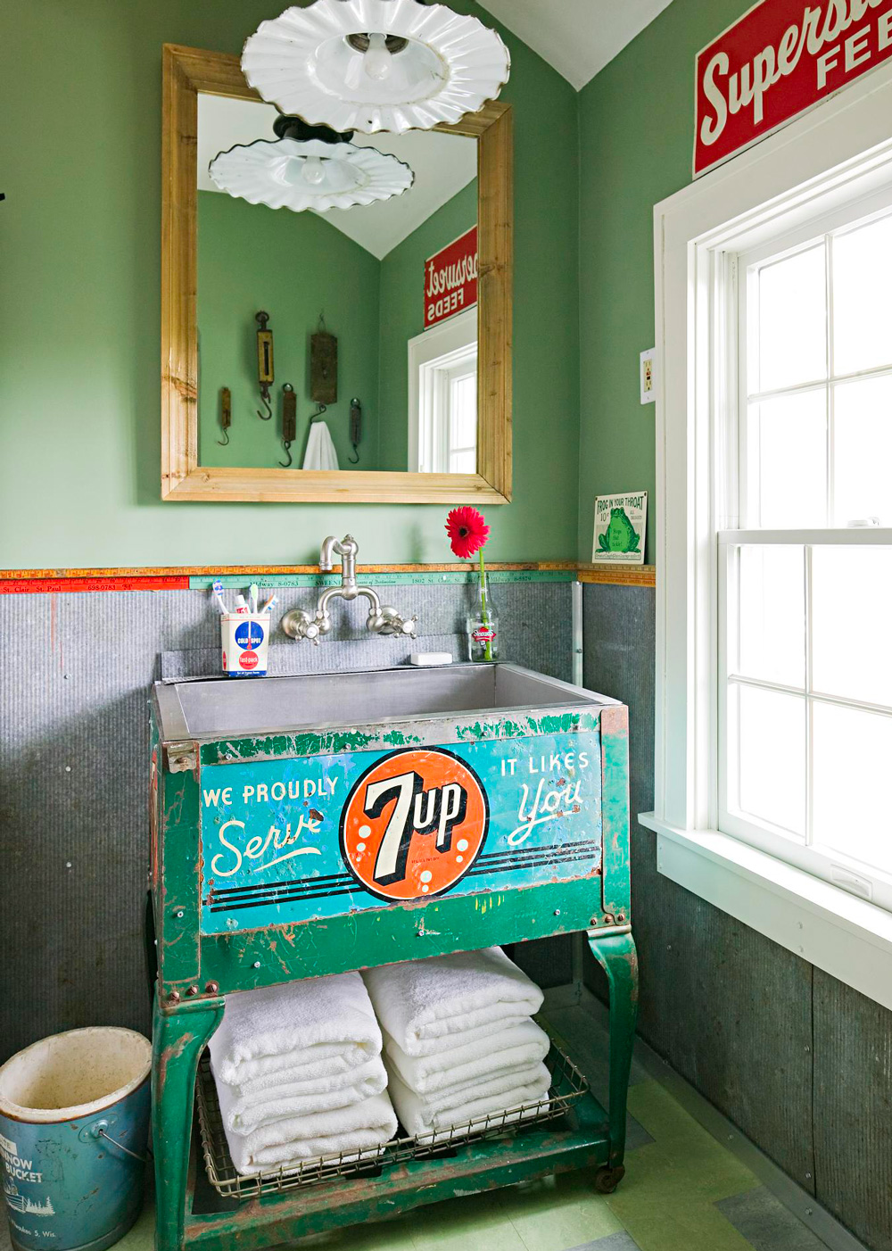 Vintage finds for a bathroom