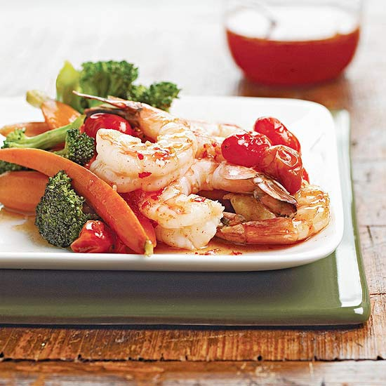 Saucy Shrimp and Vegetables