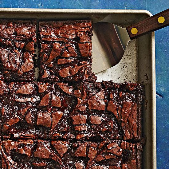 Raspberry-Hazelnut Swirl Brownies