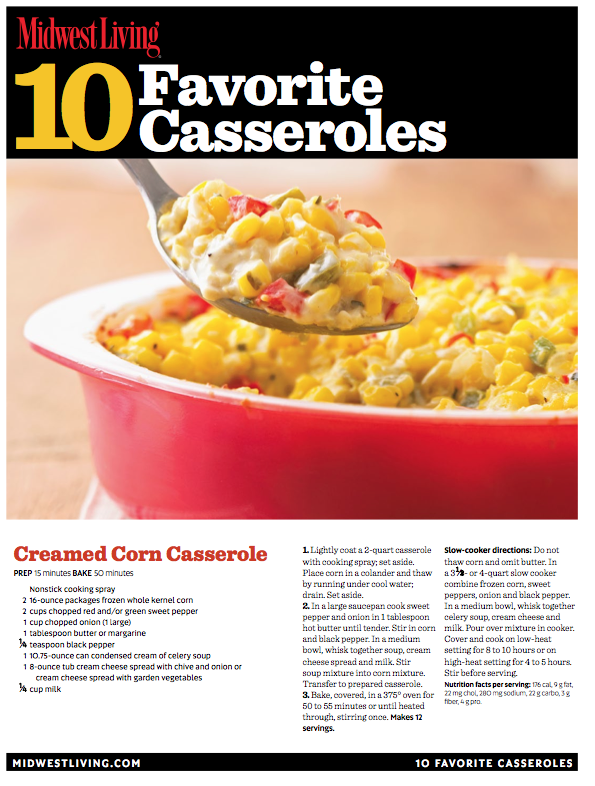 Free printable casserole cookbook and more